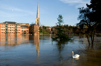 LA69 River Severn in Flood Worcester